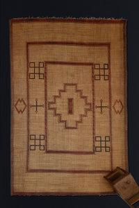 Tuareg Mat with Center Step Diamond with Borders.............. (10'5'' x 16'6'')