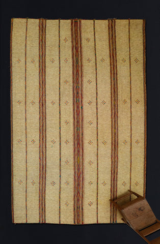 Multi Colored 3  Striped Tuareg Carpet with Diamonds .............. (9'5'' x 15'1'')