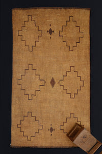 Early Tuareg Mat with 6 Stacked Diamonds .............. (11'7'' x 12'7'')
