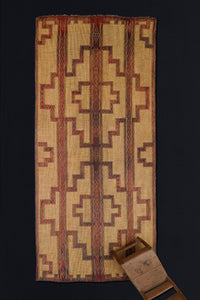 Early Tuareg Carpet with 2 Large Step Diamonds and 3 Bands .............. (6' x 13'11'')