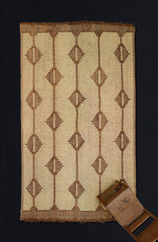 Wide Boardered Tuareg Mat with Diamonds .............. (7'2'' x 11'9'')