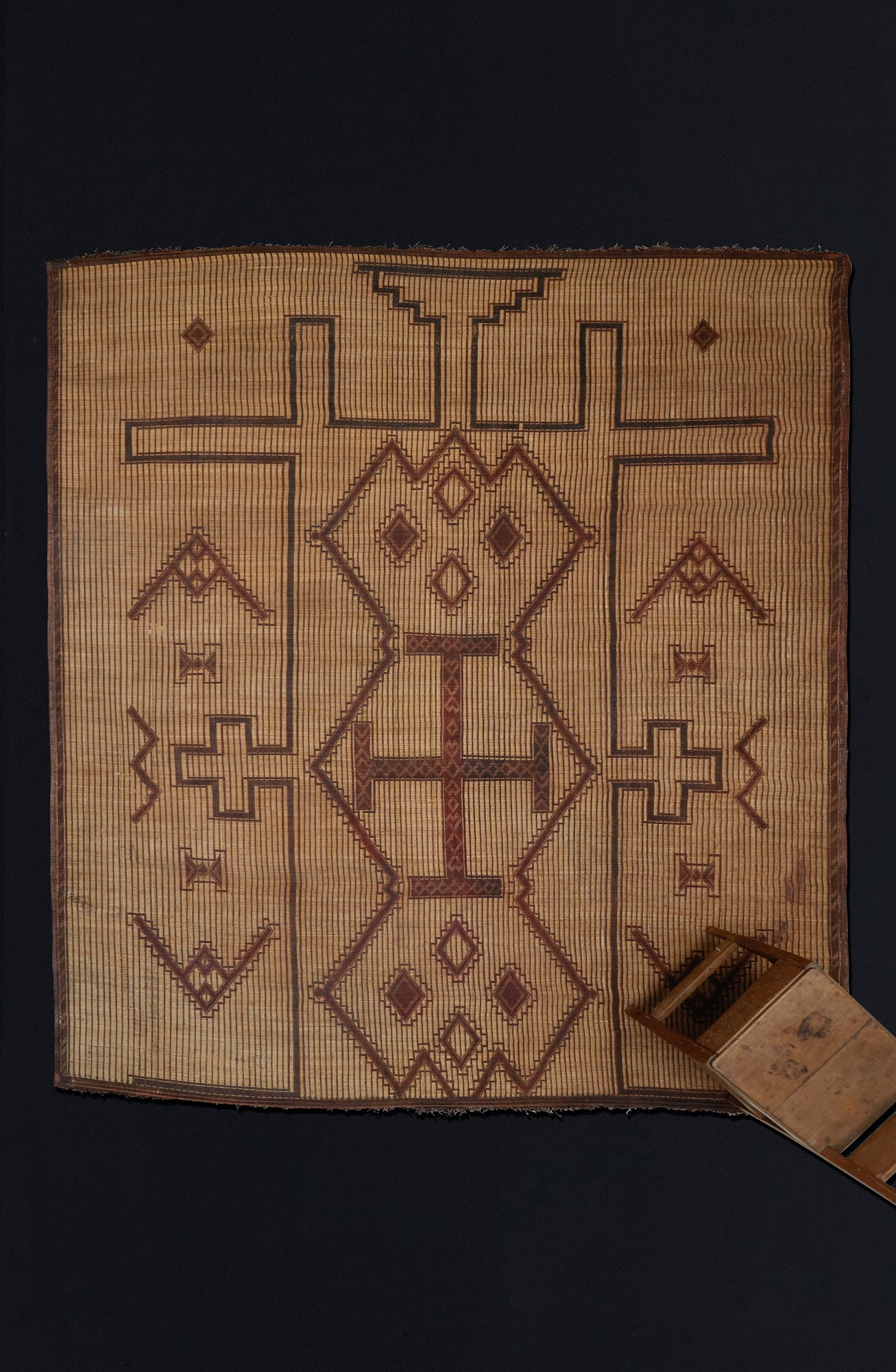 Early Tuareg mat with Central Field of Geometrics .............. (10'1'' x 11'9'')