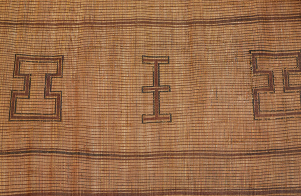 Small Early Tuareg Carpet with H's & 4 Bands .............. (6'3'' x 7'2'')