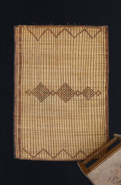 Small Tuareg Mat with 3 Simple Diamonds .............. (3'2'' x 4'4'')