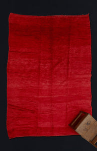Large Red Field Chichaoua Carpet with Striations ................... (7''x10'8'')