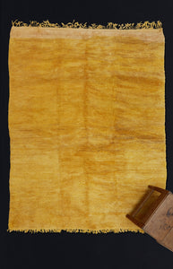 Medium Sized Saffron Colored Chichaoua Carpet .................. (6'9''x8'3'')