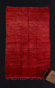 Large Overall Red Chichaoua Carpet ................... (7'1''x12'3'')
