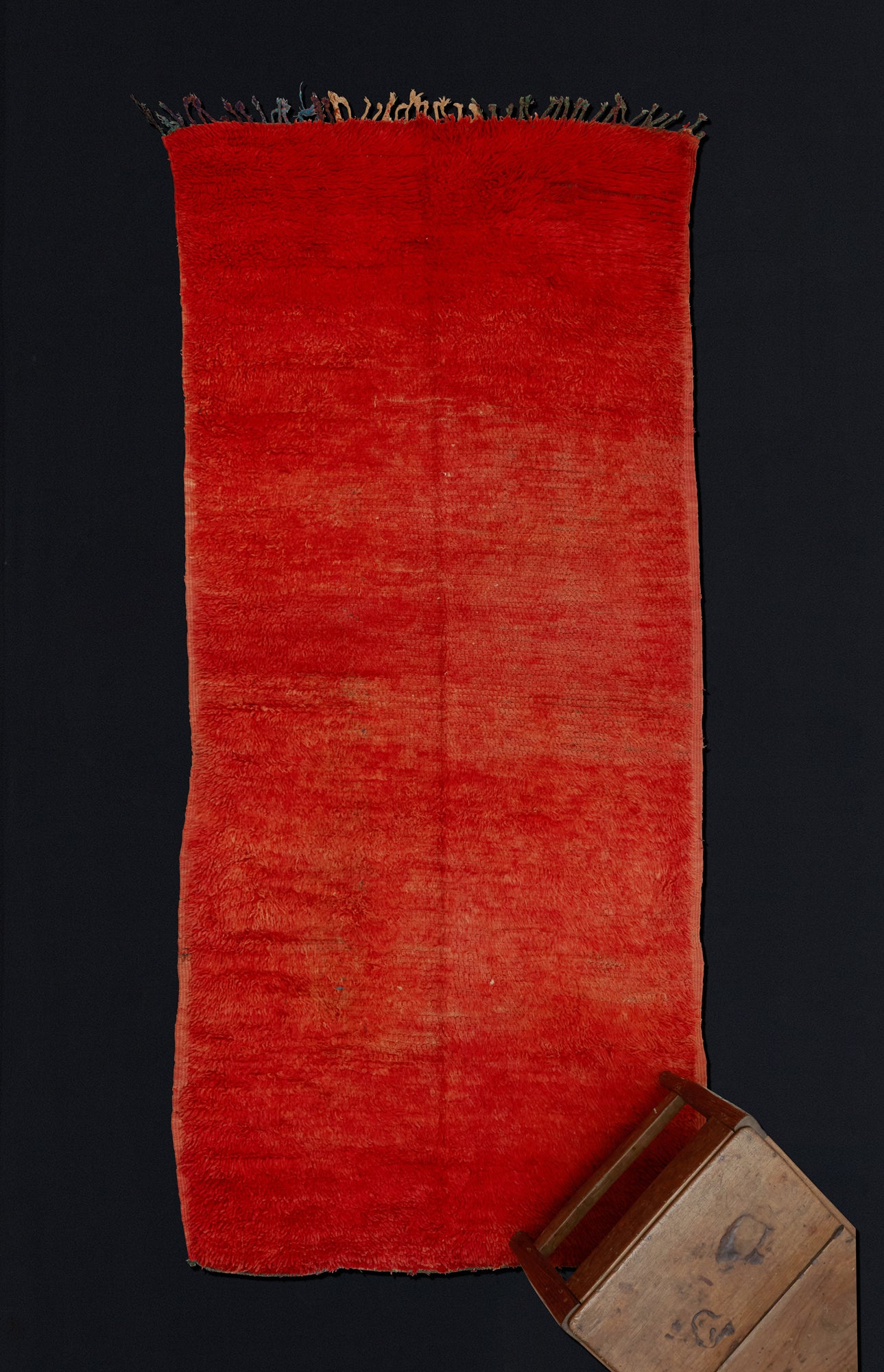 Small Red/Orange Chichaoua Carpet  ................... (3'5''x8')