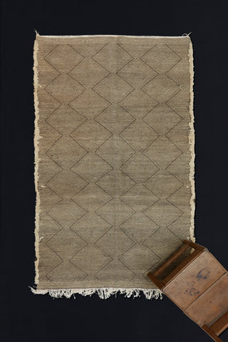 Natural Brown and Cream Zenefi Carpet with Overall Diamond Pattern  ...............(4'11''x8')
