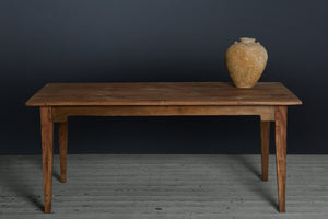 Dutch Colonial Teak Dining Table from Jakarta, 3 Board Top