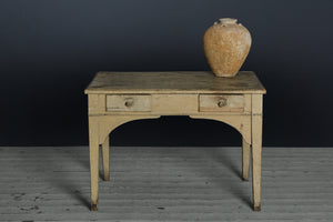 19th Century White Belgian Painted Desk