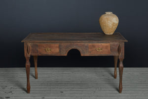 19th Century Dutch Colonial Teak Planters Desk from Java