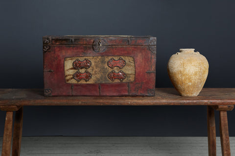 18th Century Tibetian Chest from a Monastery
