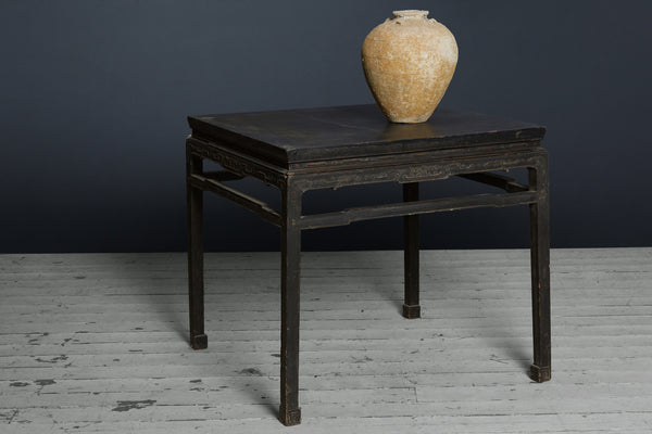 Late 17th Century/Early 18th Century, Black Laquer Ming Square Table