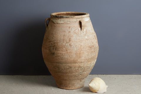 Large 19th Century Cretan Terra Cotta Oil Jar