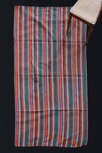 "Long Stripe-Red, Brown, Blue and Green ............ (4' 6"" x 9')"