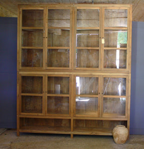 Large 2 Piece Apothecary Teak Cabinet from Central Jakarta