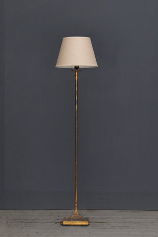 Spanish Gilt Iron Floor Lamp ca 1950