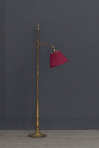 Spanish Bronze Gooseneck Floor Lamp ca 1920