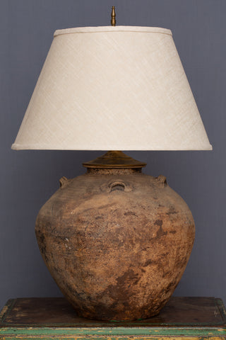 15th Century Vietnamese Shipwreck Storage Jar as a Lamp