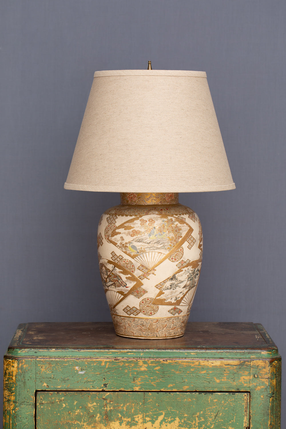 Late 19th - Early 20th Century Japanese Vase Converted into a Lamp