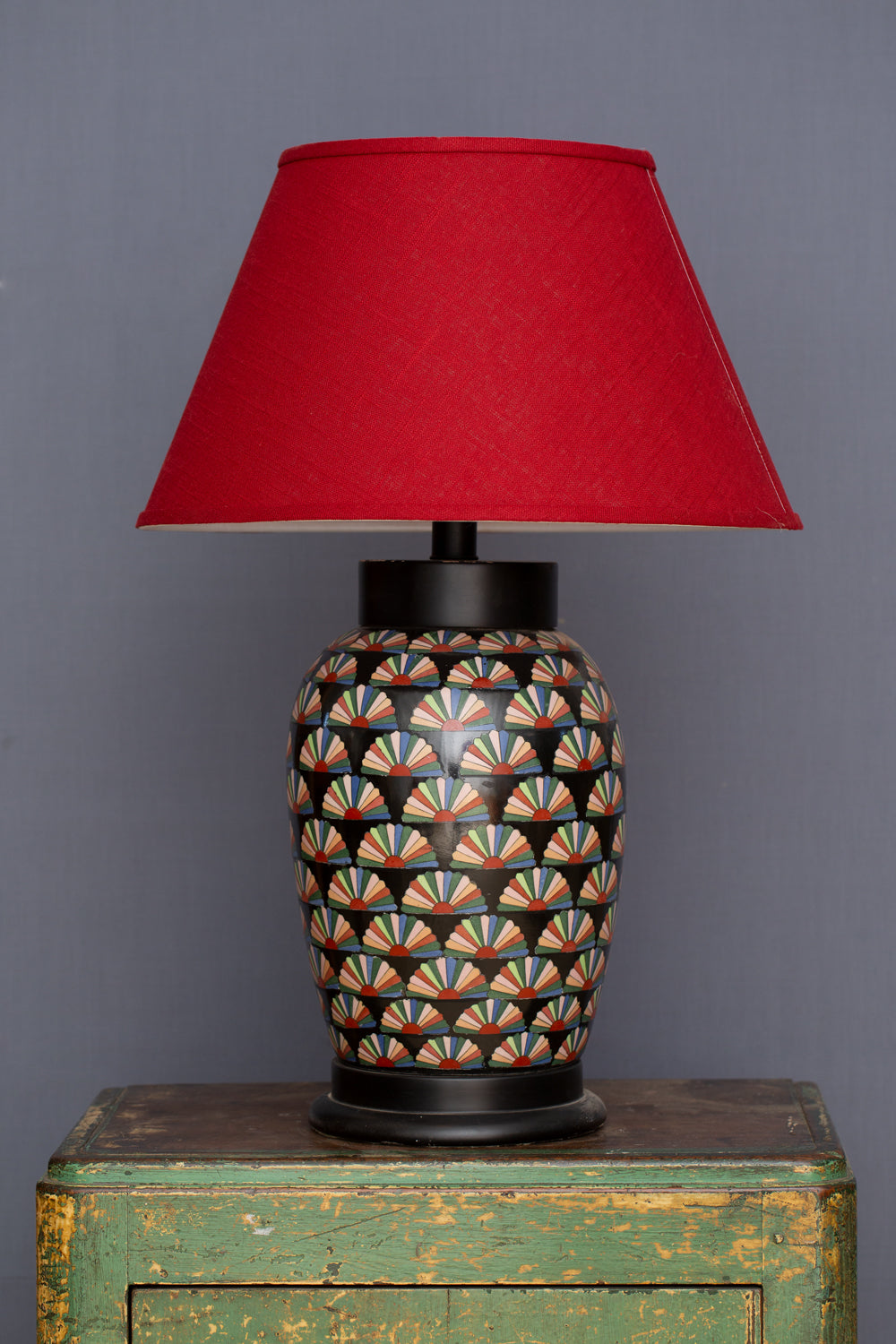 1970's Japanese Ceramic Lamp