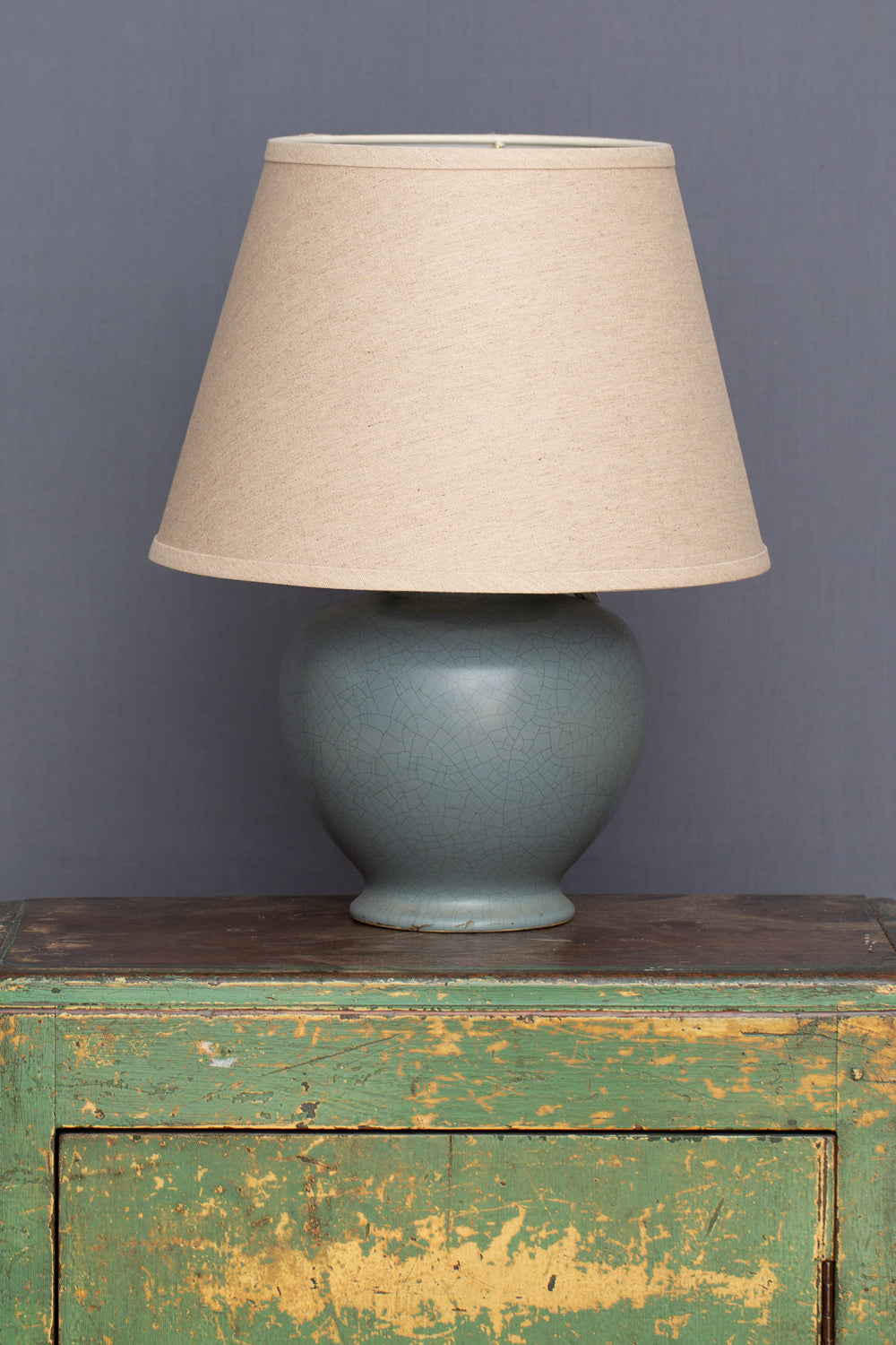 1940's Pale Blue Art Pottery Lamp Base