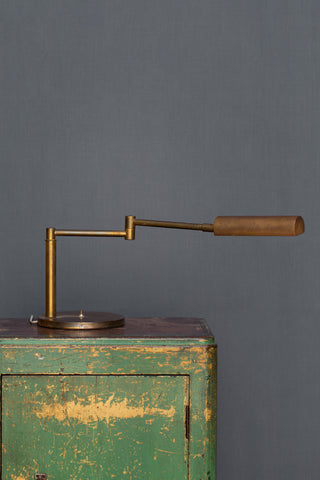1950's - 60's Articulater Arm Bronze Desk Light