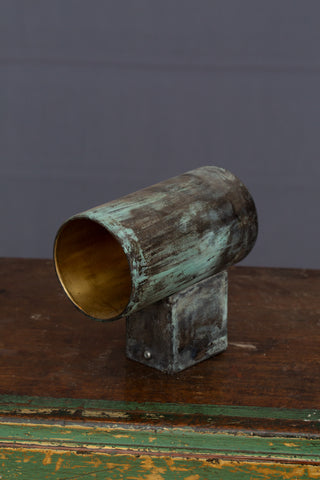 Outside Verdigris Brass Wall Sconce