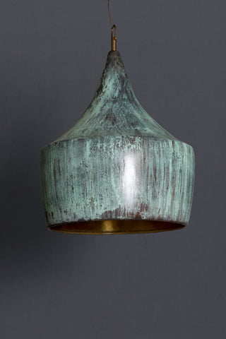 Verdigris Bronze Hanging Pendant Light