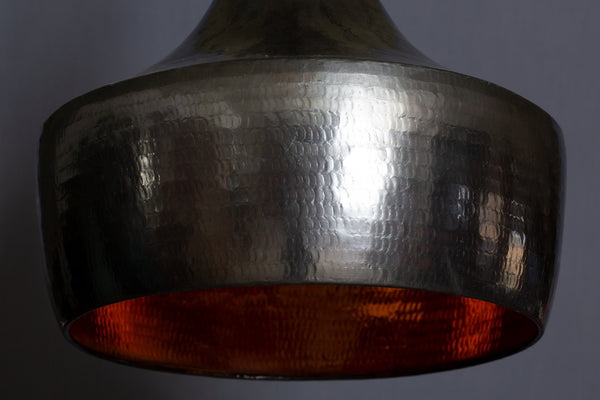 Large Hammered Bronze Pendant Light