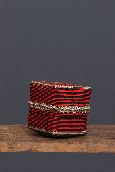 Medium Red Beaded Offering Box from Sumatra