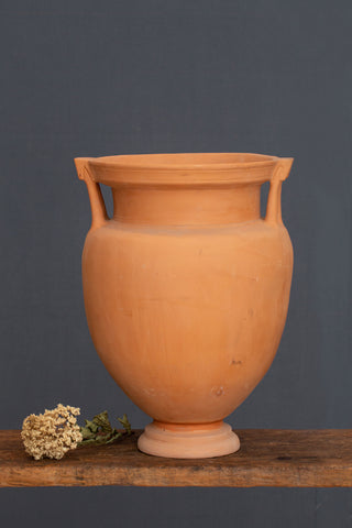 Greek Terra Cotta Krater with Double Handles