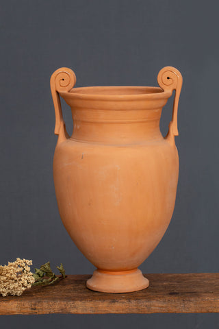 Tall Scroll Handle Terra Cotta Greek Krater ca 1940