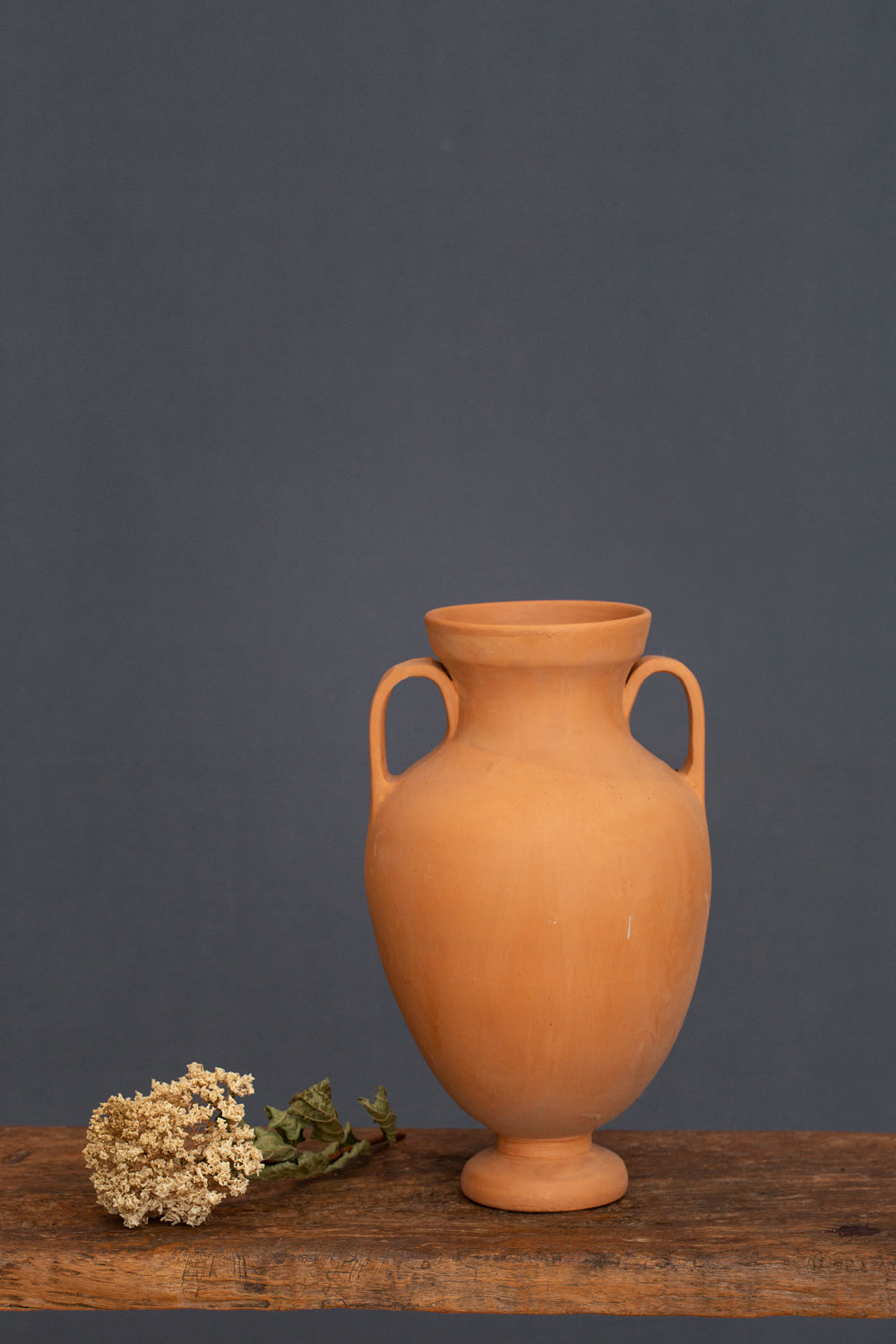Double Handle Terra Cotta Greek Urn