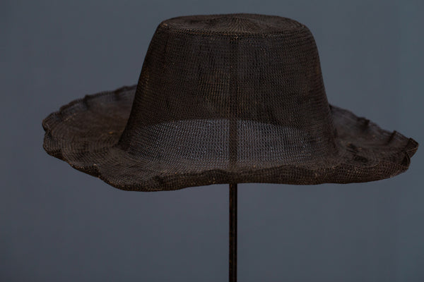 Woven Steel Mesh Ceremonial Hat from Sumba