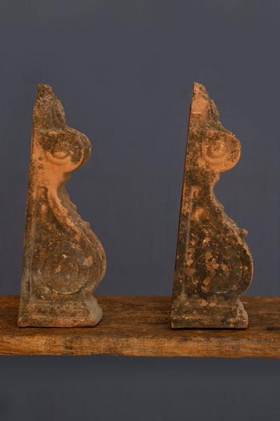 Pair of 18th Century Greek Terracotta Corbells