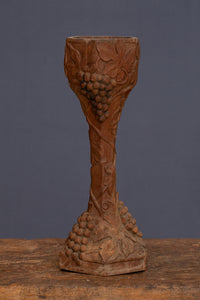 19th Century American Hand Carved art Nouveau Dogwood Chalice