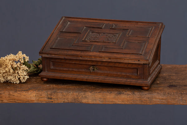 17th Century Italian Walnut Writing Box