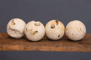 Medium Size Light Coloured Hard Limestone Spheres