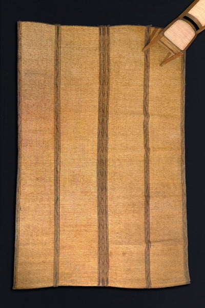"Leather and Reed Tuareg Mat from North Africa (9' 3"" x 15' 3'')"
