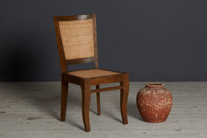 Teak & Rattan Side Chair