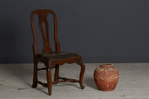 Set of 4 18th Century English Carolinian Walnut Side Chairs