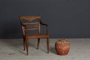 19th Century Teak Raffles Chair from Java