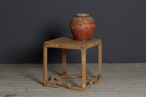 1930's Chinese Parchment Covered Side Table