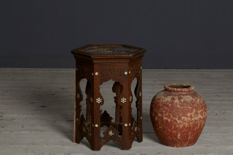 Syrian Tabouret Stand with Bone Inlay