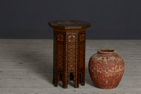 Moroccan Tabouret Stand with Mother of Pearl Inlay
