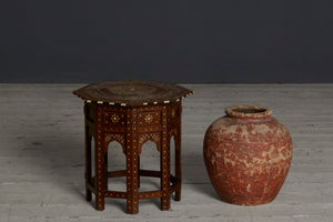 Syrian Folding Bone & Ebony Inlay Tabouret Stand