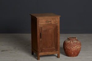 Dutch Colonial Teak 1 Drawer Night Stand from Java