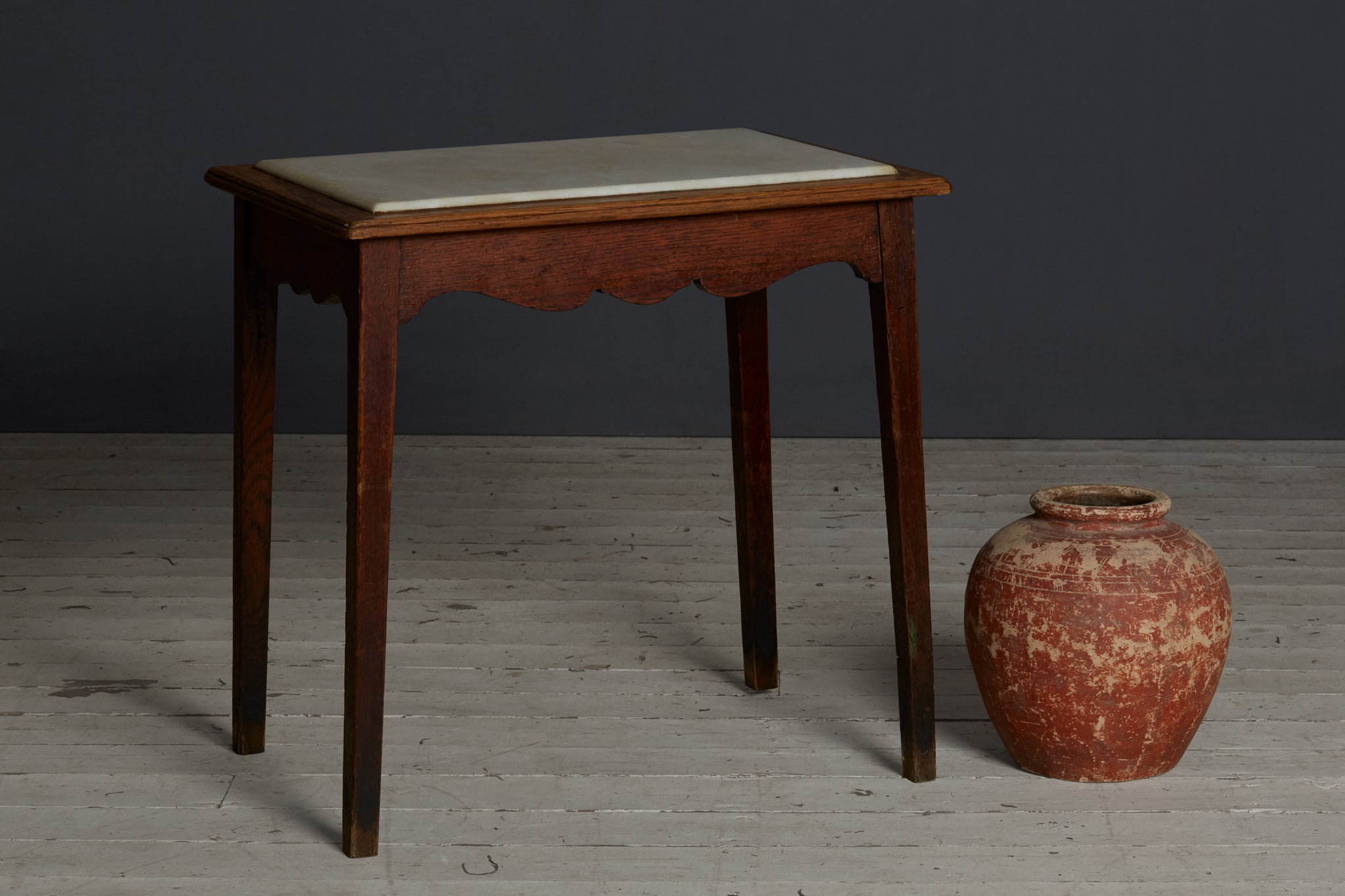 French Marble Top Bistro Table from Lyon